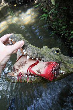 Another crocodile geocache.... looks like he was hungry.
