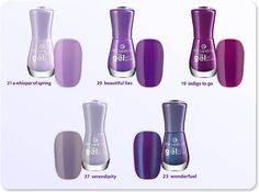"purple love     which of these 5 ""gel nail polishes"" is your favorite?"