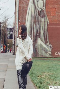 Morning walk in Portland downtown.   望着京城的气温,走在portland街头的我套上了壮毛衣,乖乖的享受着咬牙切址的阴冷天。#coach# 白毛衣裙搭配黑色#gucci# 大沿帽+ #Chanel# 过膝靴,红唇绿荫,点亮妆容。 #morning#rainday#portland#wearwhatyoulike#style#lifestyle#fashionblogger#fashion#taodayslook#vans#vansoldskool#goodmorningpost#lovely#lovelymoment#todaysoutfit#stylefashion#styleinspiration#mood#moment#modesens#modesensmoment #cozystyle #fashionpiece #todayimwearing #todaysoutfits #springfashion #spring #stylelist #chic  from @JingLeng's closet