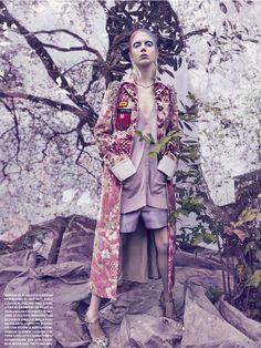 Ornamental Motifs -  Cheyenne Keuben by  Sølve Sundsbø for Vogue Italia September 2016 - Miu Miu