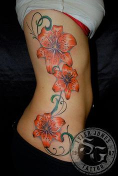One of my Lilly on my arm this orange but not black dots