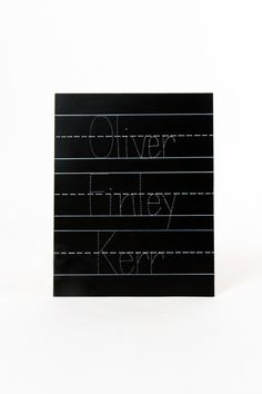 """Personalized 11x14 Trace and Erase Chalkboard by ChalkFullofDesign with """"maribelle James kerr"""" written"""