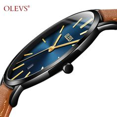 OLEVS Ultra thin Design Wristwatches For Male Leather Watchband Waterproof Scratch-resistant Men Watch Clock Fashion Gifts G5869 Relogio Masculino Horloges Mannen Montre Homme Item Type Quartz Wristwatches Brand Name OLEVS