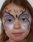Make-up contest: pictures of children made up - makeup Kids Makeup, Clown Makeup, Costume Makeup, Halloween Makeup, Halloween Face, Butterfly Makeup, Butterfly Costume, Butterfly Face, Butterfly Kids