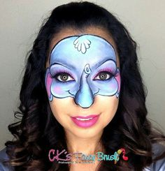 Elephant Face Painting Design by CK's Fancy Brush