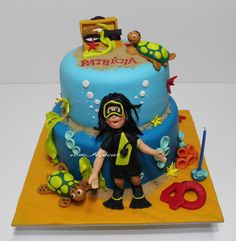 Scuba, underwater #cake  by comacucar