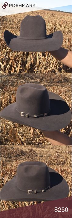 68970ba71ab 10X Steel American Hat Company Felt cowboy hat Perfect condition. Dark gray  color. Size