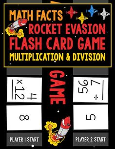 The Math Facts Rocket Evasion Flash Card Game: Multiplication & Division gives children an opportunity to practice math facts in fun ways.