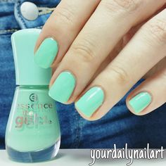 @essence_cosmetics 40 play with my mint  . Ich bin nach der ewigen Pause wieder zurück  . #yourdailynailart #nailart #nailpolish #nails #nagellacksucht #nagellackliebe #nagellack #lacquer #nailpromote #nails2inspire #nailpictures #girlynailsdeluxe #dailynailart #thenailartstory #weloveyournailart #nailartwow #nailartoohlala #nailartpromote #nailfeature #nailitdaily #nailsart #nailartclub #scra2ch #essence #mint #playwithmymint #jeans by yourdailynailart