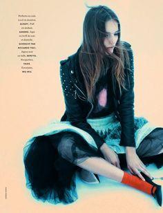Tilda Lindstam by Andreas Sjödin for Elle France December 2014 [Editorial]