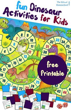 Do your kids love dinosaurs? This is the best and most fun printable game for kids because it is dinosaur-themed! Your kids will love it!