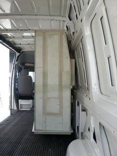 Shower going into van conversion. Their advice is to make the shower enclosure the first thing to go in.