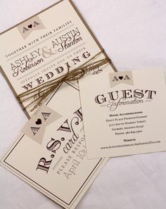 Vintage Wedding Invitation Suite Sample // Rustic by AMGDesignCo