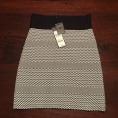 BCBGMAXAZRIA fitted power skirt BRAND NEW with tags black and white fitted power skirt perfect for the office or a night out with sky high heels!! if you're familiar with these skirts.. they have a nice heavy weight to them. great quality for the price!! BCBGMaxAzria Skirts Mini