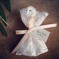 Italian Wedding, Lace Favor Bags, Party Favors, Wedding Favors, Christening Favor Bags, Baptism, Vintage Wedding, Bridesmaid Favors