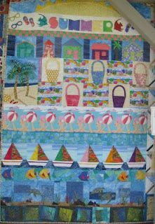 Here are some more quilts from the show. First some small quilts, I love the bright colors of these artful quilts. This quilt was so wonde. Coastal Quilts, Row By Row Experience, Beach Quilt, Summer Quilts, Quilt Patterns, Quilting Ideas, Small Quilts, Free Prints, Summer Fun