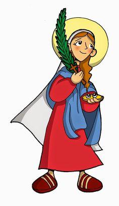 Resultado de imagen para Imagenes de santa lucia para niños