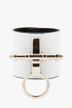 GIVENCHY //  WHITE OBSEDIA CUFF BRACELET  $695.00   (I want this, but not in white)