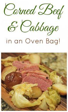 Corned Beef Brisket, Oven Roasted Corned Beef, Cooking Corned Beef, Corned Beef Recipes, Corn Beef And Cabbage, Cabbage Recipes, Cornbeef And Cabbage Recipe, Irish Recipes, Food Dishes