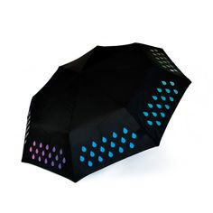 Color Changing Umbrella – printed with special ink that's white when dry, but comes to life when put in contact with water. Why would you buy a normal #umbrella again?