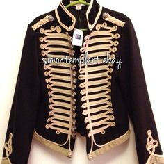 military hussar    Stella McCartney gap Kids jacket military hussar sergeant pepper winter style    charging 85 dollars postage.. really??? .. really??