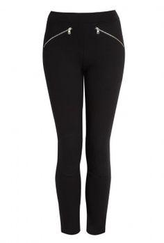 McQ Alexander McQueen | Black Zipper Legging #Alexander McQueen #black zipper leggings