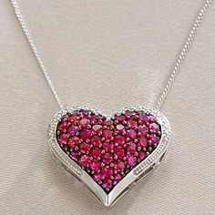Pink Shiny Heart Necklace