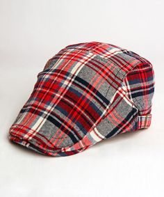 Take a look at this Red & Navy Plaid Cap by Angela & William on #zulily today!