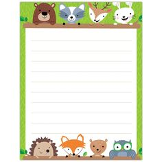 Woodland Friends Blank Chart, Lined – Creative Teaching Press Woodland Animals Theme, Woodland Creatures, Classroom Displays, Classroom Themes, Forest Classroom, Lined Writing Paper, Creative Teaching Press, Toddler Classroom, Class Decoration
