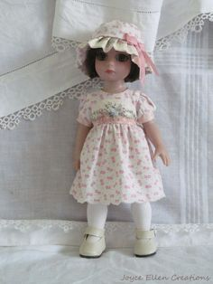 "Patsy Anne Estelle Tonner 10"" fashion pink & white OOAK set handmade by JEC"