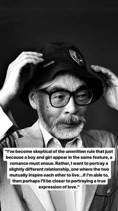Hayao Miyazaki Wow no words Best Quotes, Love Quotes, Inspirational Quotes, Words Quotes, Sayings, Philosophy Quotes, Quote Aesthetic, Hayao Miyazaki, Deep