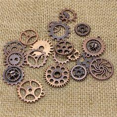 Cheap Commercio all'ingrosso della miscela 50 pz vintage charms steampunk gear antiquariato del pendente di rame della collana dei braccialetti adatti diy metallo monili che fanno t0483, Compro Qualità Charms direttamente da fornitori della Cina:            Di alta qualità   Garanzia          &