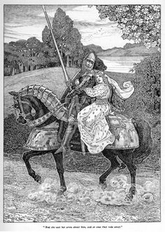 Erec and Enide is the first of Chrétien de Troyes' five romance poems, completed around Consisting of about 7000 lines of Old French, the poem is one of the earliest known Arthurian romances in any language. King Arthur Legend, Legend Of King, Tarot, Roi Arthur, Her Cast, Early Middle Ages, Knight In Shining Armor, Illustration, Chivalry