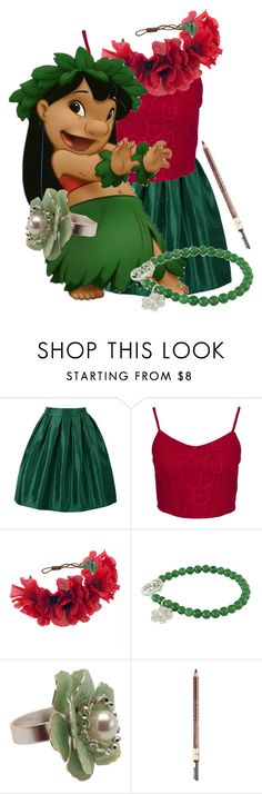 """""""Lilo"""" by found-herself-in-wonderland-13 ❤ liked on Polyvore featuring Glamorous, Rock 'N Rose, NOVICA and Iman"""