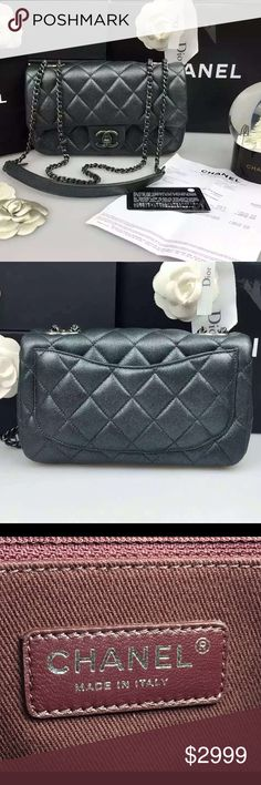 4dc2415f9af8 Auth Chanel 2016 NEW Pearly Iridescent Flap Bag Chanel newest release!  Absolutely stunning! Brand