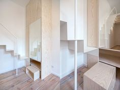 Berlin micro-apartment is given a modern makeover to maximize space