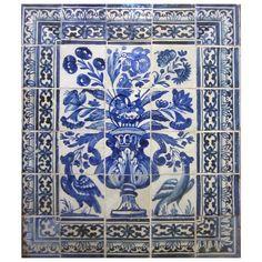Late 17th Century Portuguese Azulejos Panel | 1stdibs.com