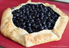 For the Love of Cooking » Blueberry and Lemon Curd Galette with Vanilla Bean Whipped Cream