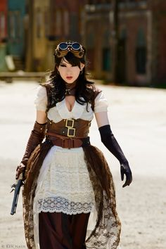 Lady Mechanika Cosplay CU2 by ~IamLizbit on deviantART