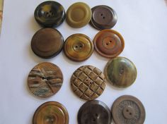 Vintage Buttons  Lot of 12  celluloid novelty by pillowtalkswf, $7.00