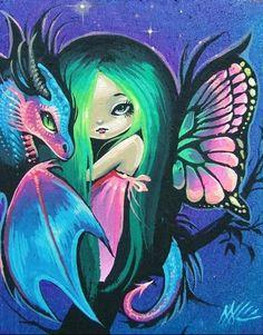 Art 'Little Fairy Friends' - by Nico Niemi from fairies