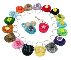 Keychain Coin Holders (Munthoudertjes) | * These crocheted k… | Flickr
