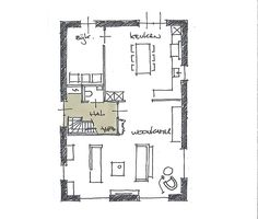House Map, Planer, Floor Plans, Flooring, How To Plan, Architecture, Cabins, Building, Houses