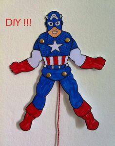 {DIY} des super héros à imprimer et à colorier !