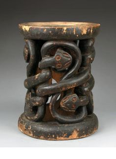 Africa | Stool from the Bamoum people of Cameroon | Wood; possibly from the Kapok tree | Personal gift from King Njoya, in 1930
