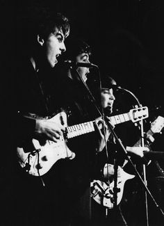 The Beatles performing at the Top Ten Club in Hamburg, April 1961.