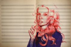 Ballpoint Pen Drawings by Vanessa Prager