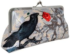Edgar Allan Poe's The Raven, light version, 10 inch size in dupion - Baba Store - 1