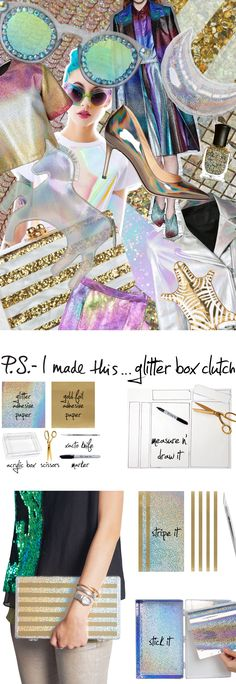 P.S.- I made this...Glitter Box Clutch  #DIY #PSIMADETHIS