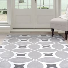 Windsor Home Area Rug - & White 4'x6'